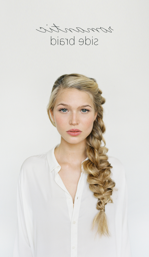 Romantic Side Braid Hair Tutorial | Wedding Hairstyles For Long Hair In Natural Looking Braided Hairstyles For Brides (View 8 of 25)