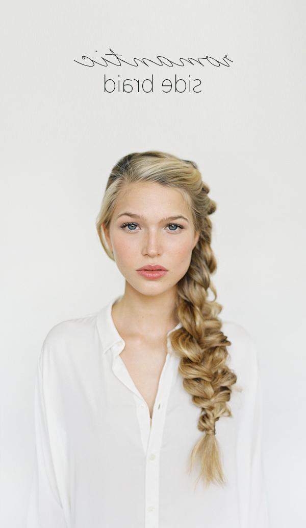 Romantic Side Braid Hair Tutorial | Wedding Hairstyles For Long Hair Inside Short Side Braid Bridal Hairstyles (View 10 of 25)