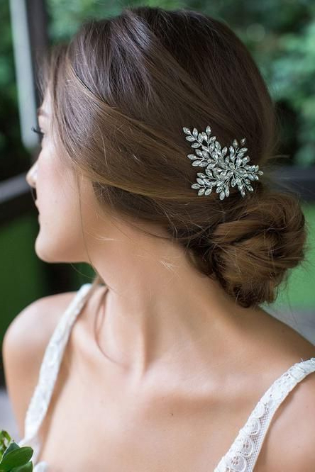 Sahara Clip | Bridal Hair Styles In 2018 | Pinterest | Bridal Hair With Swirled Wedding Updos With Embellishment (View 7 of 25)