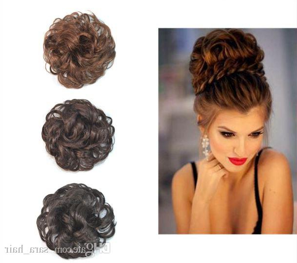 Sara Woman Chignon Buns Kinky Curly Synthetic Hair Bun Extension With Large Curly Bun Bridal Hairstyles With Beaded Clip (View 24 of 25)