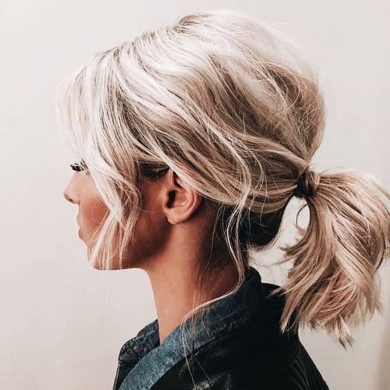 Seriously Adorable | Bubbly, Voluminous Pony Tail, Short Hair Up Do With Blonde And Bubbly Hairstyles For Wedding (View 8 of 25)