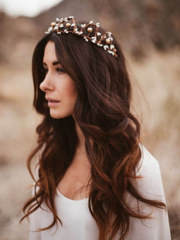 Seriously Stunning Mermaid Waves Hairstyles In 2019   Wedding Hair Inside Accessorized Undone Waves Bridal Hairstyles (View 3 of 25)