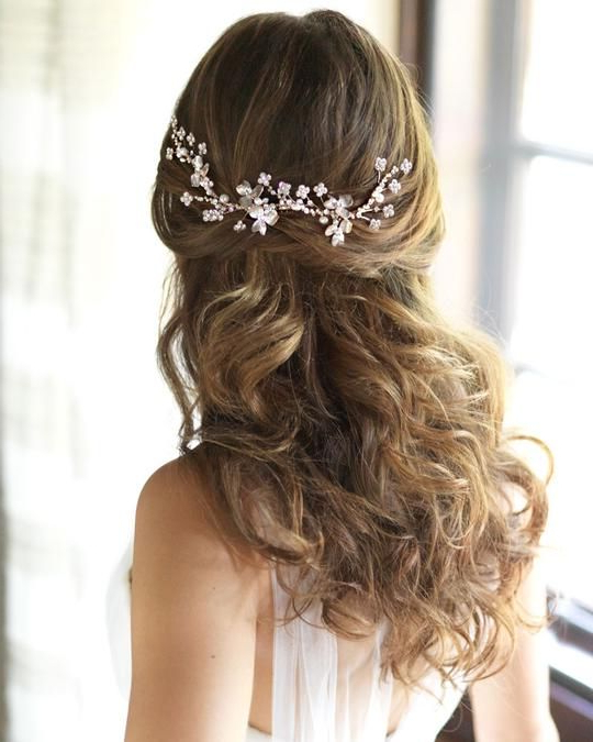 Shop Bridal Hair Combs In The Dareth Colburn Bridal Collection Regarding Brushed Back Bun Bridal Hairstyles (View 5 of 25)