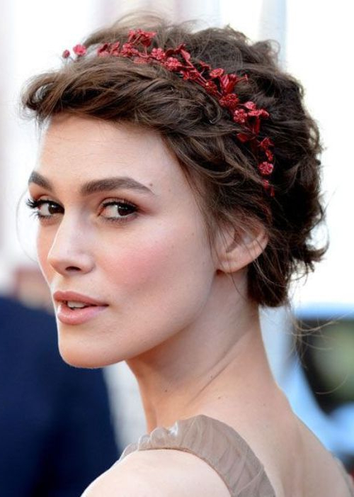 Short Hairstyles With Headbands | Love It! | Pinterest | Hair Within Short Wedding Hairstyles With A Swanky Headband (View 7 of 25)