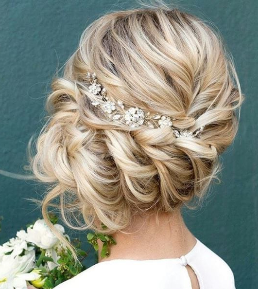Side Bun Hairstyles: 7 Inspirational Updos For Any Occasion | All With Blonde Polished Updos Hairstyles For Wedding (View 10 of 25)
