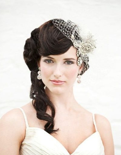 Side Half Updo With Veil – Wedding – Careforhair.co (View 17 of 25)