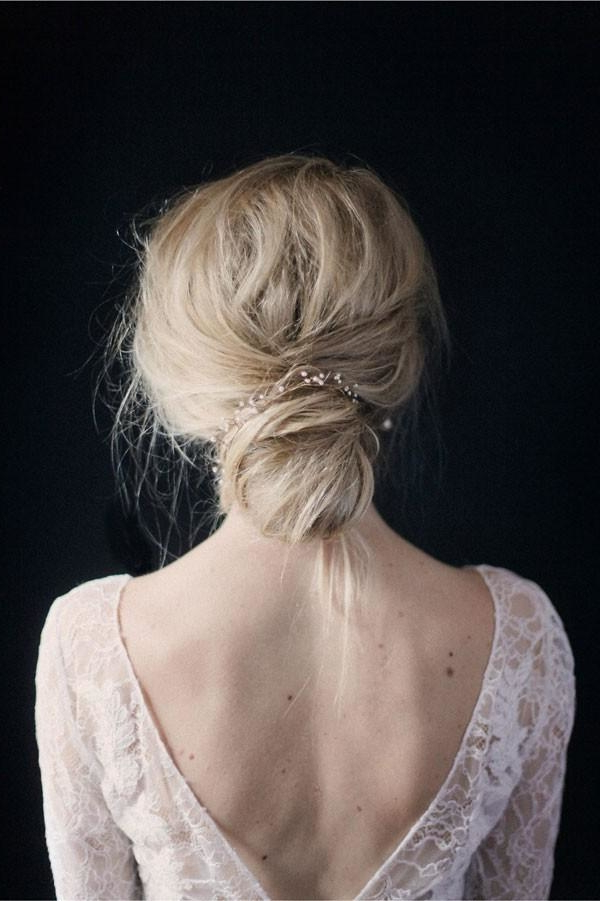 Simple And Modern Bridal Accessories | Mywedding With Regard To Wedding Low Bun Bridal Hairstyles (View 15 of 25)