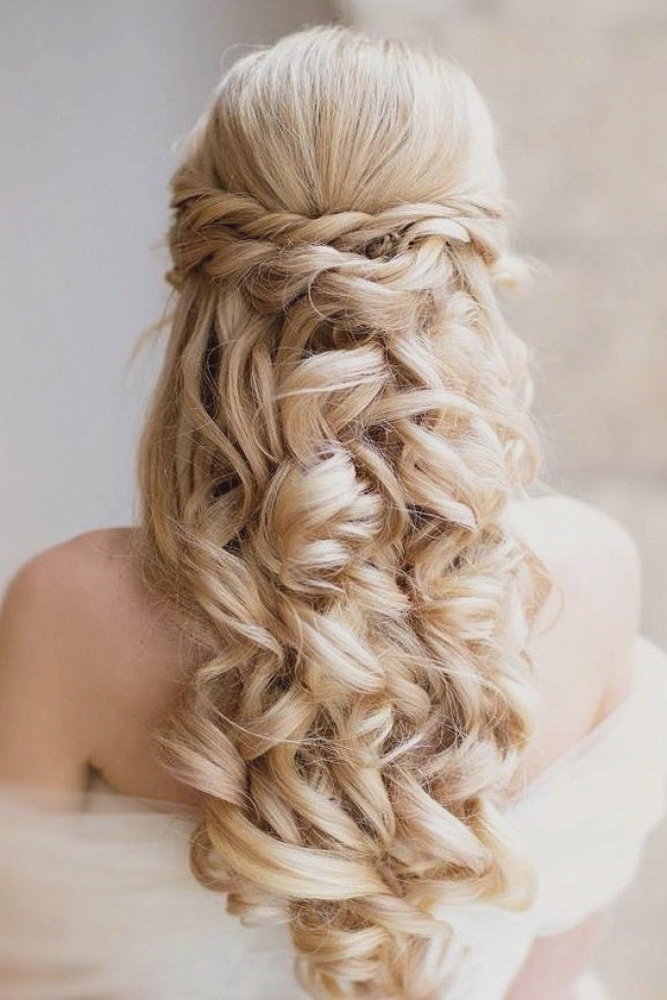 Simple Wedding Hairstyles For Bridesmaids With Long Hair Home Inside Wedding Updos With Bow Design (View 15 of 25)