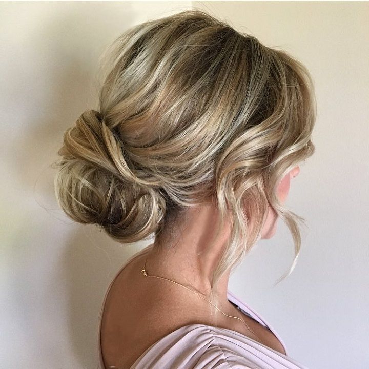 Soft And Textured Low Bun Bridal Hairstyle | Updo Wedding Hairstyles Pertaining To Wedding Low Bun Bridal Hairstyles (View 3 of 25)