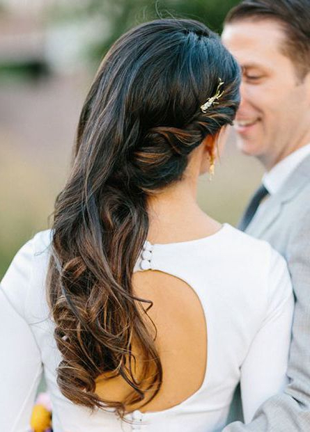 Featured Photo of Curls Clipped To The Side Bridal Hairstyles