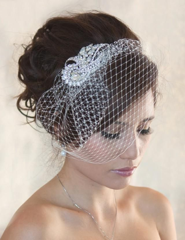 Sparkly Birdcage Veil For Wedding And Special Occasion (View 3 of 25)