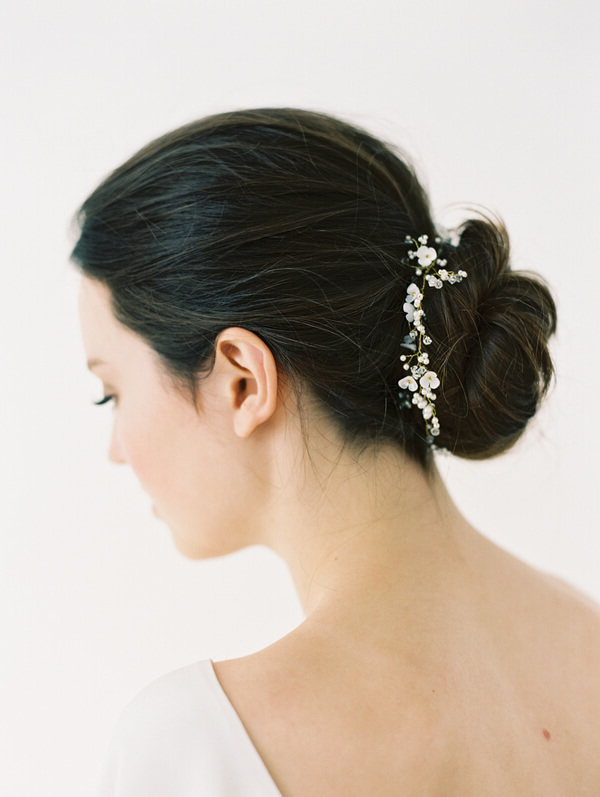 Styling Guide – La Belle   Wedding Accessories, Bridal Headpieces Inside Bridal Chignon Hairstyles With Headband And Veil (View 25 of 25)