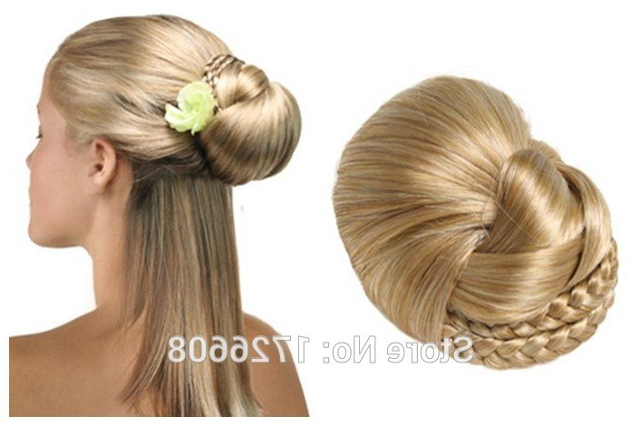 Synthetic Hair Bun Dome, Fake Wigs Hair Chignons, Bridal Wedding With Regard To Large Hair Rollers Bridal Hairstyles (View 7 of 25)