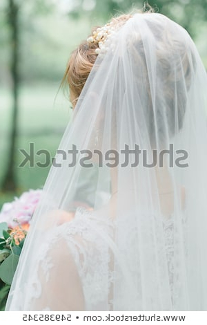 Tender Blond Bride White Dress Veil Stock Photo (Edit Now) 549385345 Pertaining To Tender Bridal Hairstyles With A Veil (View 10 of 25)