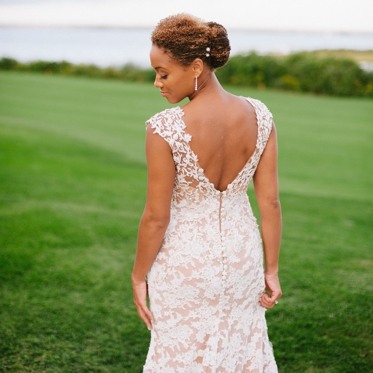 The 60 Prettiest Bridal Hairstyles From Real Weddings | Brides Intended For Pulled Back Bridal Hairstyles For Short Hair (View 16 of 25)
