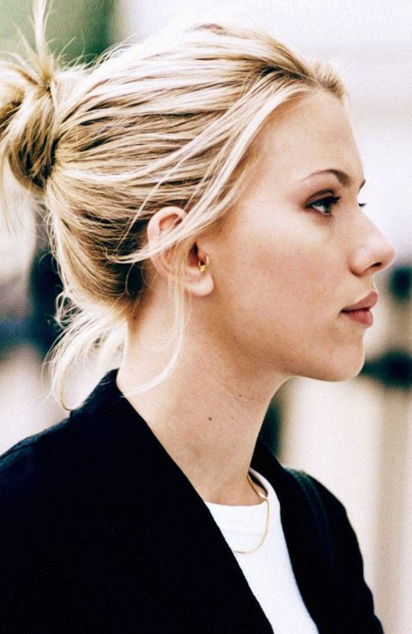 The Best Messy Bun Hairstyles For Every Hair Length – The Trend Spotter Within Messy Bun Wedding Hairstyles For Shorter Hair (View 25 of 25)