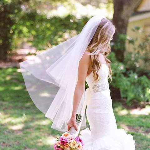 The Best Wedding Hair Tips On Wearing A Veil, Must Read! Throughout Ponytail Bridal Hairstyles With Headband And Bow (View 19 of 25)