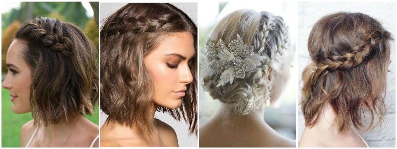The Best Wedding Hairstyles That Will Leave A Lasting Impression Inside Braided Bob Short Hairdo Bridal Hairstyles (View 16 of 25)