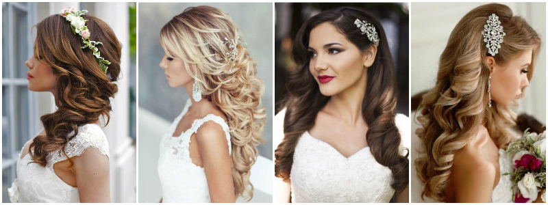 The Best Wedding Hairstyles That Will Leave A Lasting Impression Intended For Curls Clipped To The Side Bridal Hairstyles (View 18 of 25)