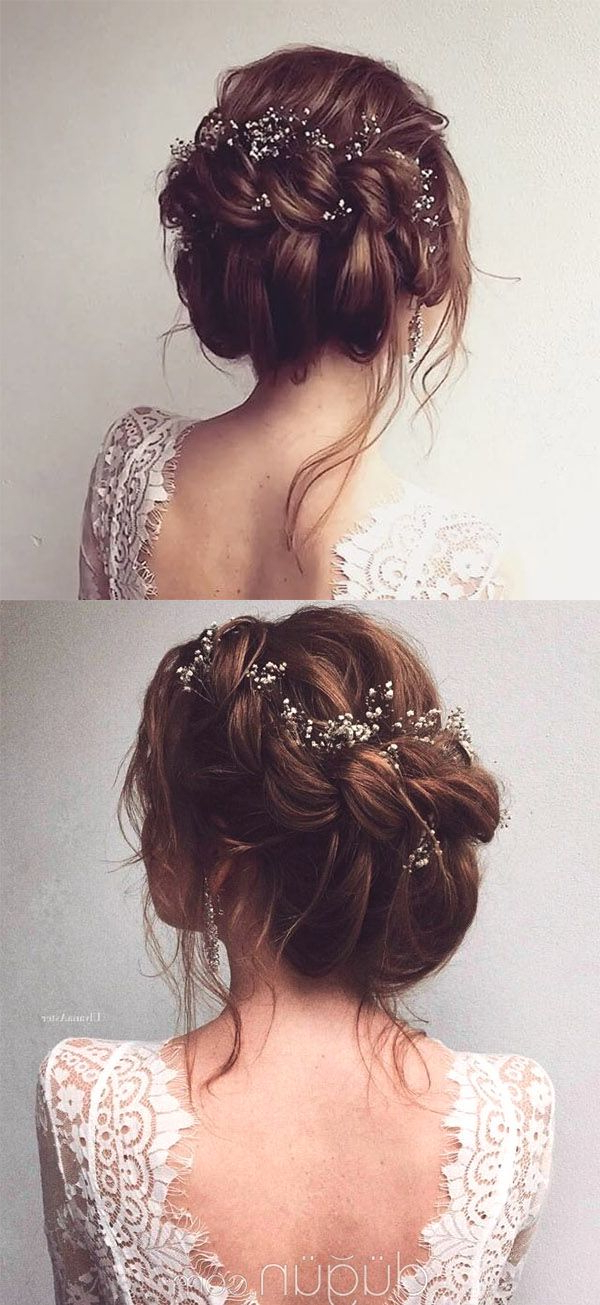 The Ultimate Inspiration To Have A Breathtaking Snowy Winter Wedding Inside Embellished Caramel Blonde Chignon Bridal Hairstyles (View 24 of 25)