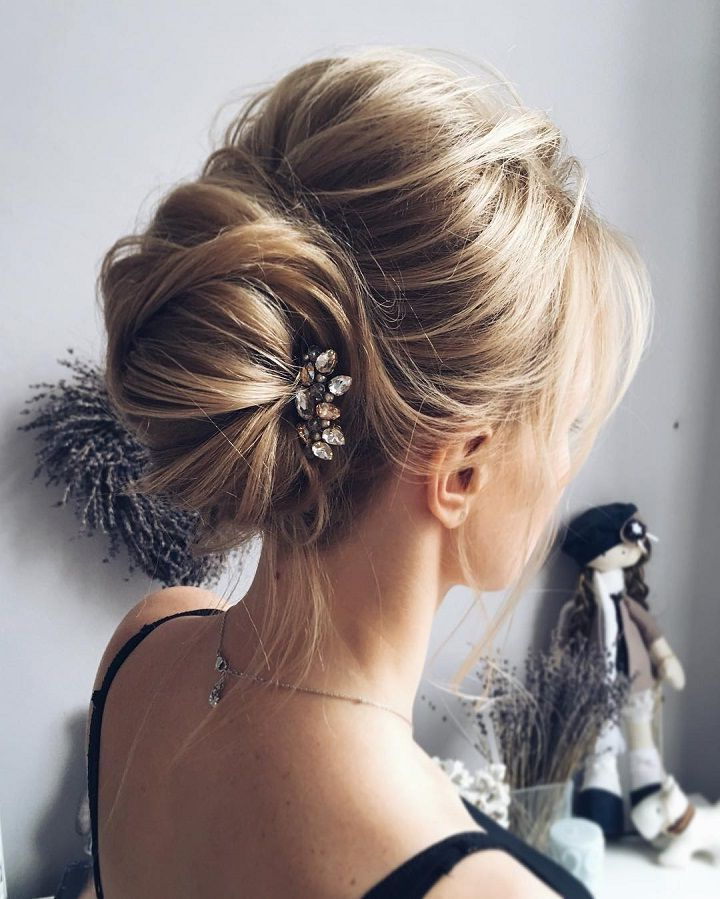 This Beautiful French Chignon Hairstyle Perfect For Any Wedding Inside Bouffant And Chignon Bridal Updos For Long Hair (View 2 of 25)