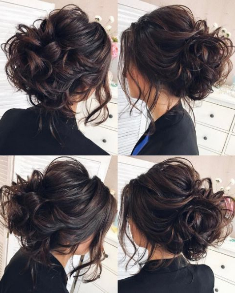 Tonya Pushkareva Wedding Hairstyle Inspiration | Wedding Hairstyles Inside Large Curly Bun Bridal Hairstyles With Beaded Clip (View 5 of 25)