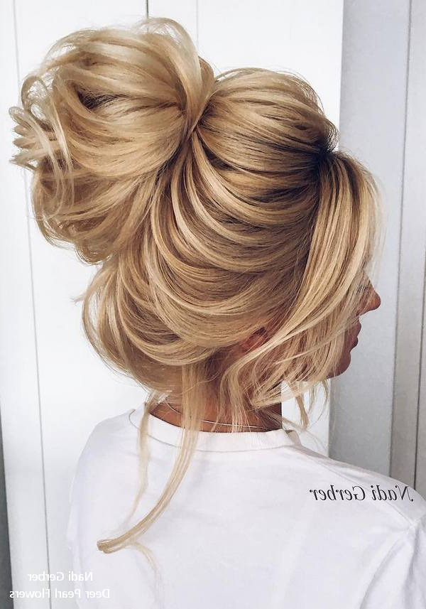 Top 18 High Bun Wedding Updo Hairstyles – My Stylish Zoo Throughout Chic And Sophisticated Chignon Hairstyles For Wedding (View 23 of 25)