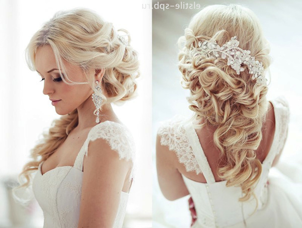 Top 20 Bridal Headpieces For Your Wedding Hairstyles In Half Up Wedding Hairstyles With Jeweled Clip (View 16 of 25)