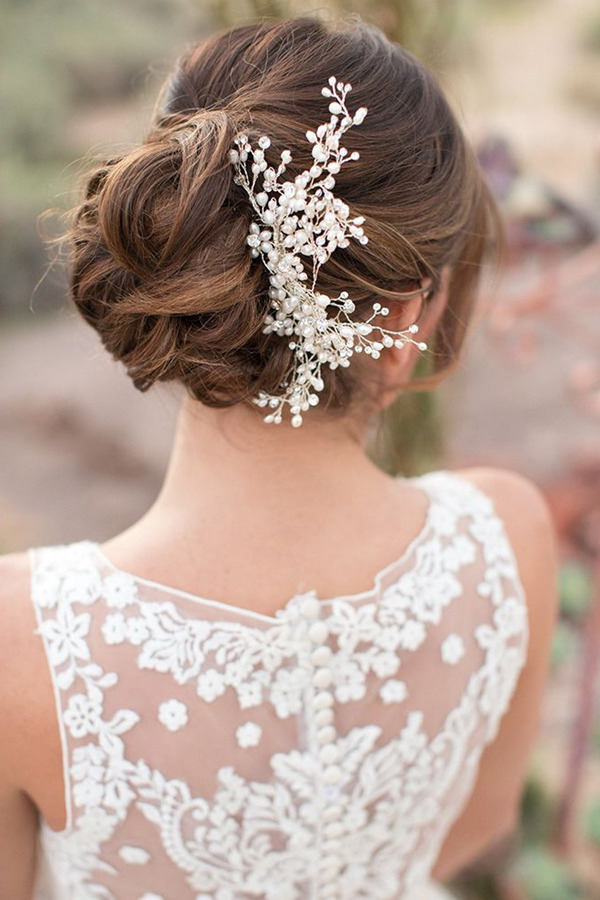 Top 20 Bridal Headpieces For Your Wedding Hairstyles With Pearls Bridal Hairstyles (View 11 of 25)