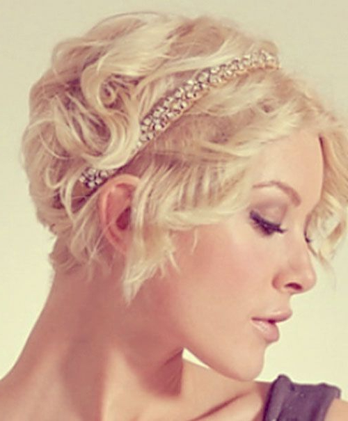 Top 25 Short Wedding Hairstyles | Accessories: Misc (View 17 of 25)