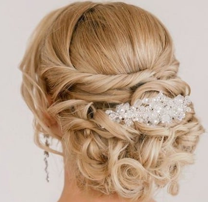 Top 30 Wedding Updos For Brides To Be – Top5 For Embellished Twisted Bun For Brides (View 24 of 25)