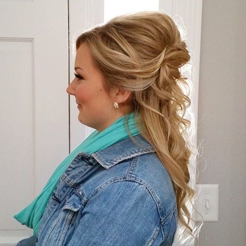 Top 60 Flattering Hairstyles For Round Faces | Styledhair In Semi Bouffant Bridal Hairstyles With Long Bangs (View 10 of 25)