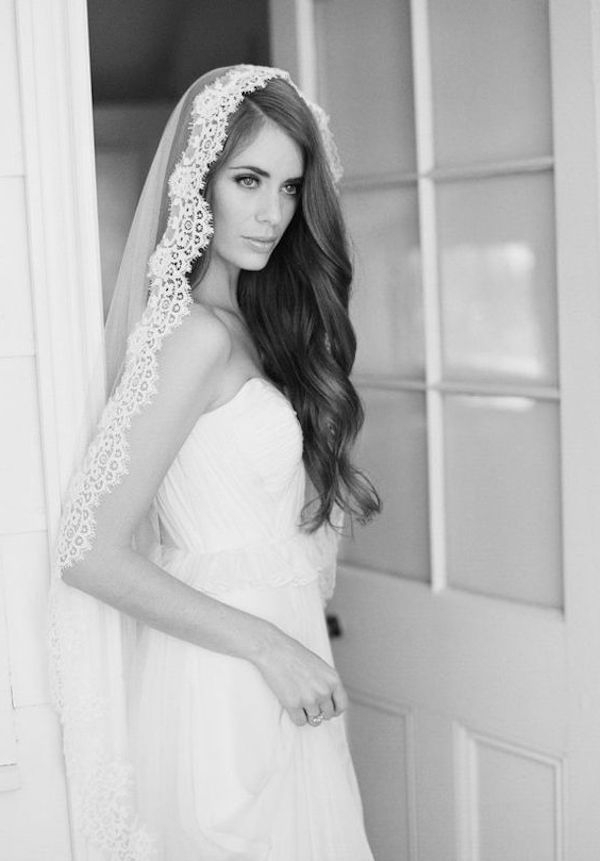 Top 8 Wedding Hairstyles For Bridal Veils Regarding Side Curls Bridal Hairstyles With Tiara And Lace Veil (View 21 of 25)