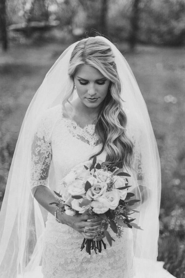 Top 8 Wedding Hairstyles For Bridal Veils With Side Curls Bridal Hairstyles With Tiara And Lace Veil (View 9 of 25)