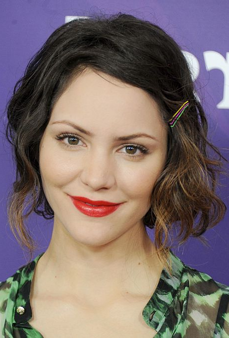 Tousled Pinned Back Waves Wedding Hair – Katharine Mcphee's Tousled Inside Pinned Back Tousled Waves Bridal Hairstyles (View 6 of 25)