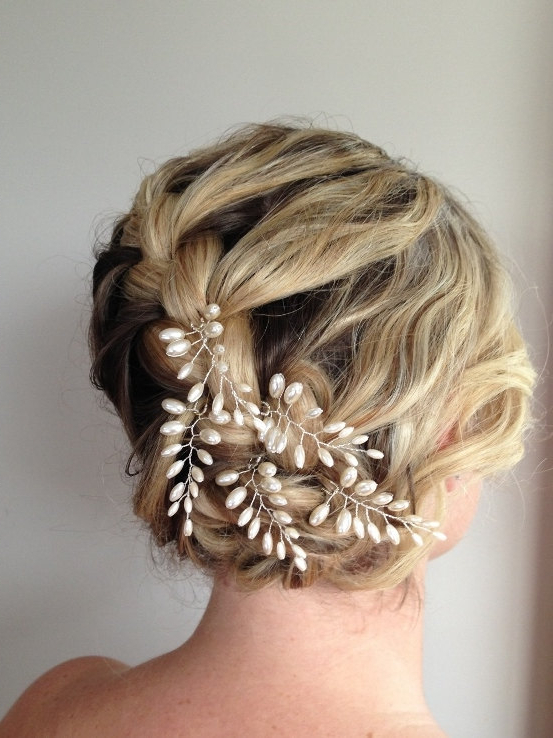 Trendy Bridal Hair Accessories Inside Bedazzled Chic Hairstyles For Wedding (View 6 of 25)