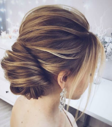 Tres Chic | The Updated French Twist Wedding Updo For Modern Inside Modern Updo Hairstyles For Wedding (View 3 of 25)