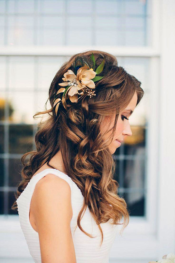 Trubridal Wedding Blog | Long Hair Archives – Trubridal Wedding Blog Throughout Teased Half Up Bridal Hairstyles With Headband (View 12 of 25)