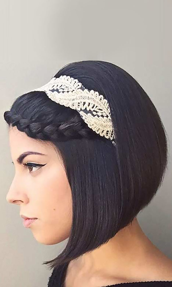 Trubridal Wedding Blog | Wedding Hair Archives – Page 5 Of 17 With Regard To Short Wedding Hairstyles With A Swanky Headband (View 23 of 25)