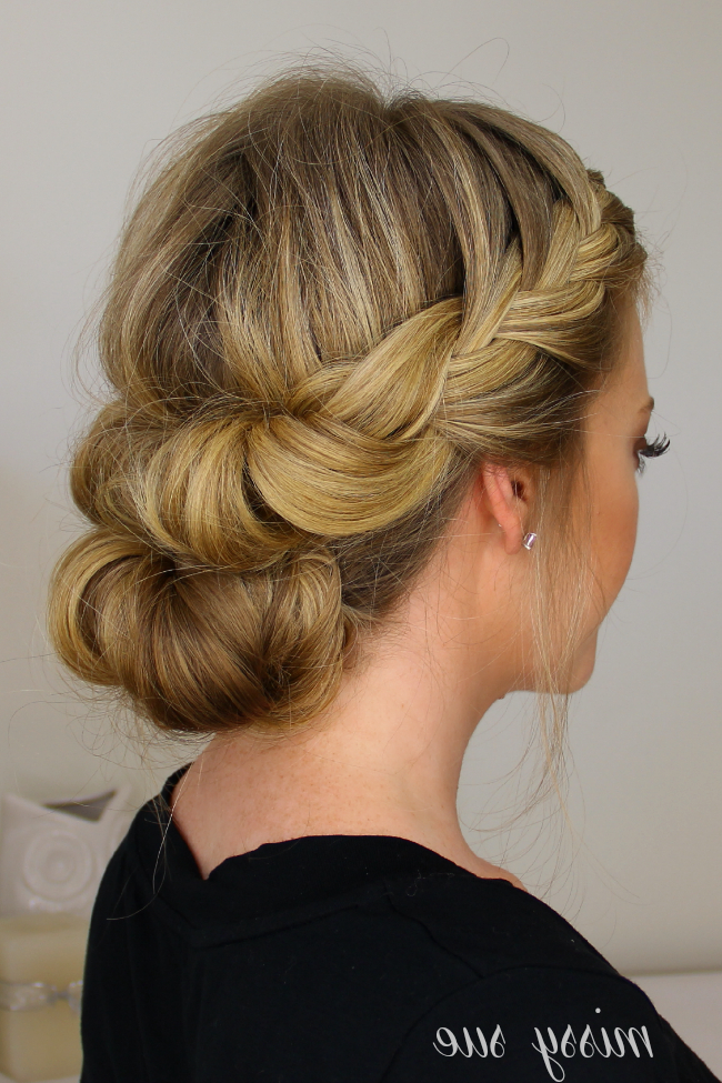 Tuck And Cover French Braid Half With A Bun | Hair | Hair, Braids With Regard To Twist, Curl And Tuck Hairstyles For Mother Of The Bride (View 11 of 25)