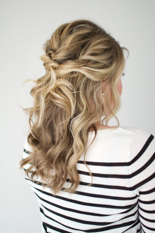Twisted Half Up Tutorial | H A I R | Pinterest | Hair Styles, Hair Intended For Twisted And Pinned Half Up Wedding Hairstyles (View 2 of 25)