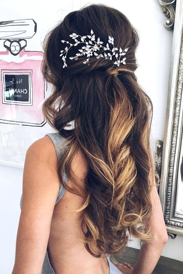 Unique S Wedding Bride Hairstyles With Veil Wedding Hairstyles With Throughout Long Curly Bridal Hairstyles With A Tiara (View 23 of 25)