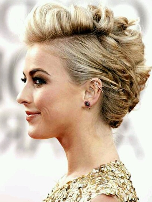 Updo Hairstyles For Short Hair | All Hairstyles Throughout Curled Side Updo Hairstyles With Hair Jewelry (View 23 of 25)