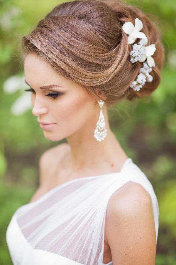 Updos Bridal Hairstyles | Deer Pearl Flowers Intended For Pearls Bridal Hairstyles (View 6 of 25)