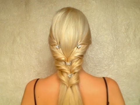 Valentine's Day, Prom, Wedding Hairstyle For Long Straight Hair Intended For Double Braided Look Wedding Hairstyles For Straightened Hair (View 25 of 25)