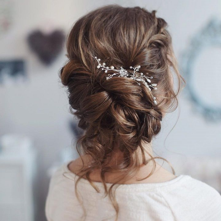 Verena (Verena1983) On Pinterest Within Loose Updo Wedding Hairstyles With Whipped Curls (View 7 of 25)