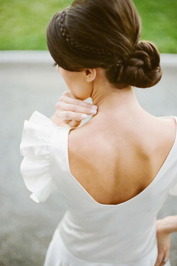 Vintage Inspired Wedding Dressesthe Wardrobe Shop | Bridal Regarding Crown Braid, Bouffant And Headpiece Bridal Hairstyles (View 15 of 25)