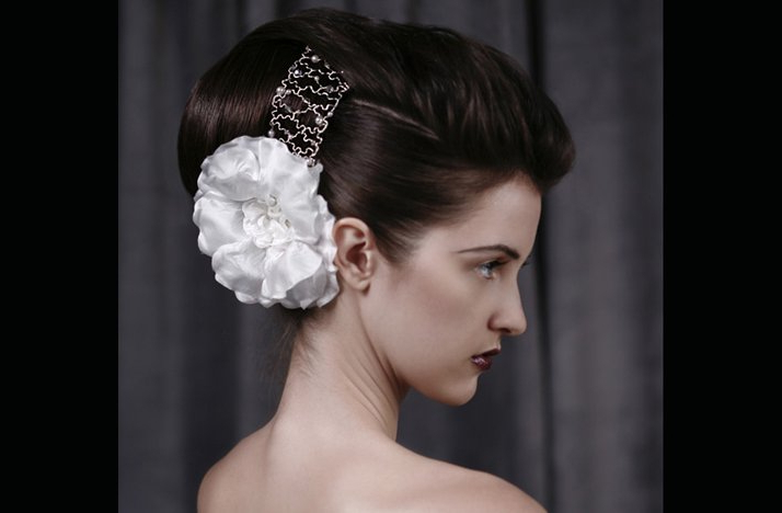 Voluminous Bridal Updo Wedding Hairstyles For Vintage Brides Inside Voluminous Bridal Hairstyles (View 22 of 25)