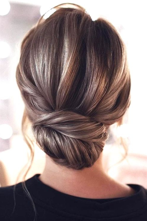 Voluminous Low Bun Hairstyle #updo #longhair ? How About You To Within Voluminous Chignon Wedding Hairstyles With Twists (View 7 of 25)