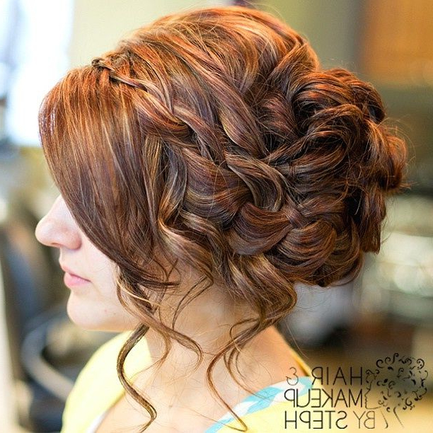 Waterfall Braid Side Updo (View 22 of 25)